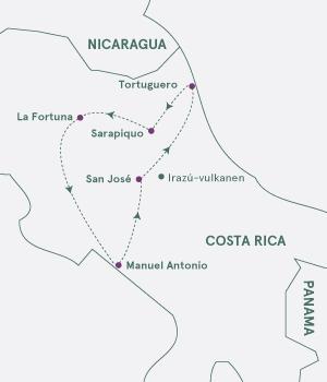 Kort - På opdagelse i Costa Rica