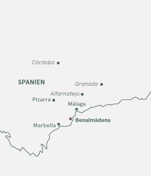 Kort - Langtidsrejse til Costa del Sol og Benalmádena - 2019-2020