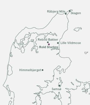 Kort over Jylland - Rold Skov og Nordjylland