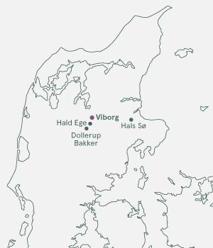 Kort over Damark - Julerejse til Viborg