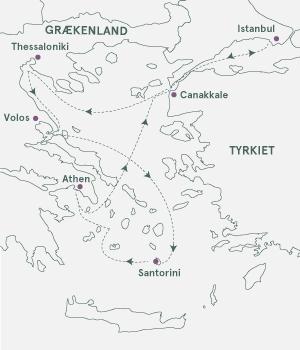 Kort - Krydstogt i Det Ægæiske Hav - Sommer 2021