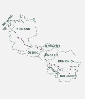 Kort - Det ultimative krydstogt fra Sortehavet til Amsterdam - Sommer 2020