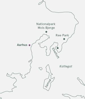 Kort - Djursland, Aarhus og Samsø - Sommer 2021