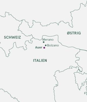 Kort over Italien - Dolomitterne