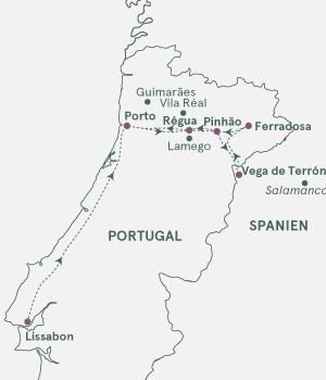 Kort - Krydstogt på Douro - Sommer 2022