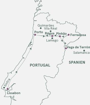 Kort - Douro - Portvinsruten - 2019