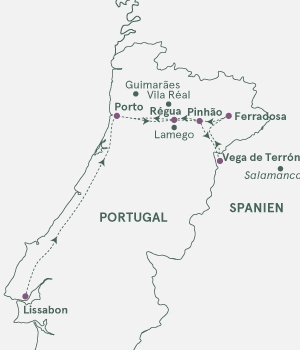 Kort - Vitus´ Douro - Portvinsruten - Sommer 2020
