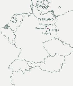 Kort Tyskland - Elben & Pretzsch