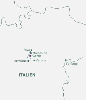 Kort - Gardasøen og Garda by - Sommer 2019 og 2020