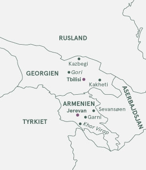 Kort - Georgien og Armenien - Sommer 2021