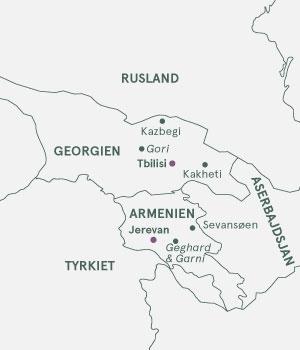 Kort - Georgien og Armenien - Sommer 2020