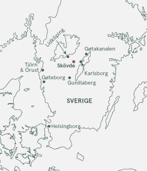 Kort over Sverige - Gøtakanalen & Skærgården