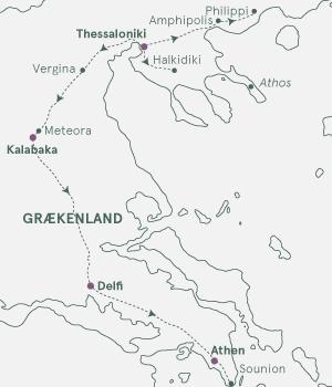 Kort over På opdagelse i Grækenland