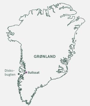Kort - Grønland - Diskobugten og Ilulissat - Sommer 2021