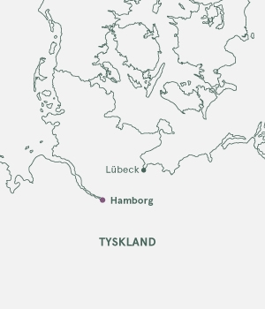 Kort over Tyskland - Hamborg