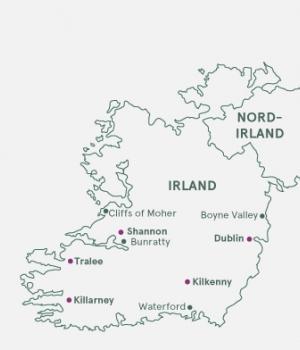 Kort - Irland - Den Grønne Ø - Sommer 2019