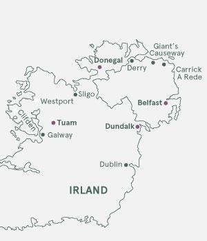 Kort - Irland og Nordirland - Sommer 2020