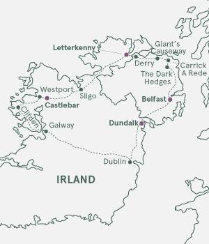 Kort over Irland
