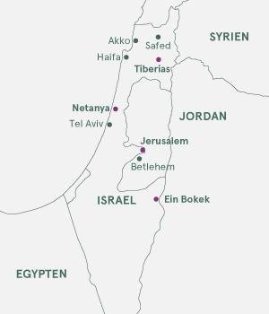 Kort - På opdagelse i Israel - Vinter 19-20