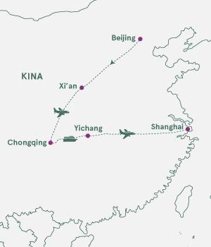 Kort over Kina