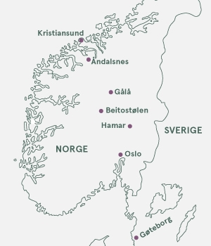 Kort - Kulinariske Norge - Sommer 2021