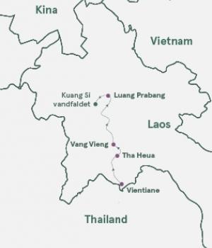 Kort - Laos - Khmerenes gamle rige