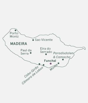 Kort - Madeira - Atlanterhavets blomsterø - Vinter 2021 - 2022