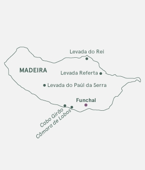 Kort over Madeira - Levadavandring