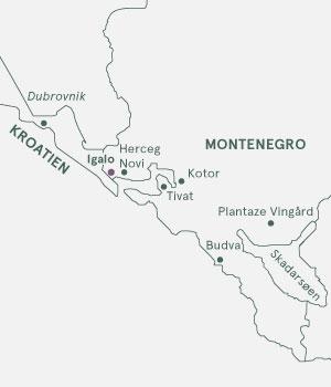 Kort - Montenegro - De sorte bjerges land - Sommer 2020
