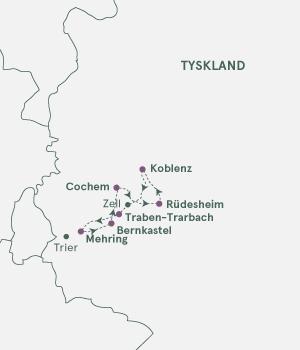 Kort over Tyskland