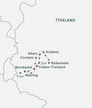 Rutekort - Mosel og Rhinen - S19