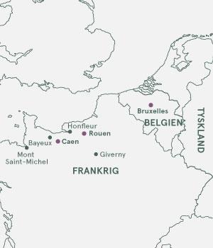 Kort over Frankrig - Normadiet