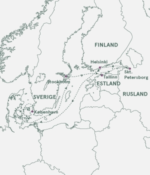 Kort - Krydstogt i Østersøen - Sommer 2019 og 2020