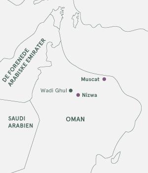 Kort - Oman Sultanens vidunderlige land