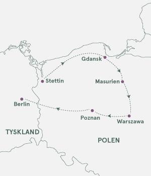 Kort - På opdagelse i Polen - Sommer 2019