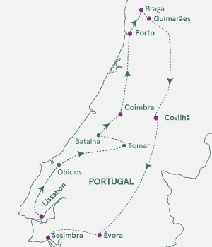 Rutekort - Portugal på opdagelse - S19