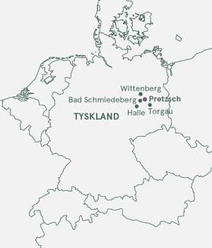 Nytårrejse til Elben og Pretzsch - kort