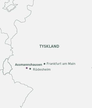Kort - Rhinen og Assmannshausen Julemarked