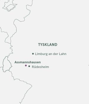 Kort - Rhinen og Assmannshausen - Sommer 2020