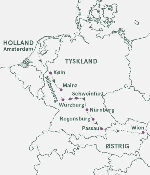 Kort - Rhinen, Main og Donau - Sommer 2019