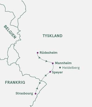 Kort - Nytårskrydstogt på Rhinen - Vinter 2020