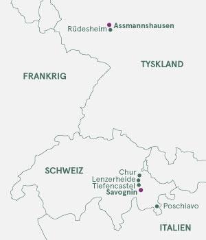 Kort - Rhinen & Schweiz