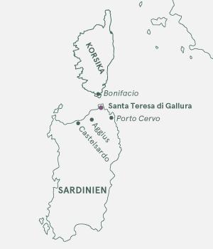 Kort - Sardinien - Sommer 2021