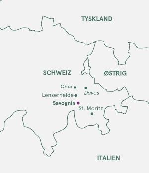 Kort over Schweiz - Jul