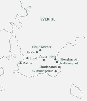 Kort - Skønne Skåne - Sveriges spisekammer - Sommer 2021