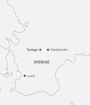 Kort - Skåne og Tyringen - Julemarked 2019