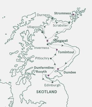 Kort - Skotland & Orkneyøerne - Sommer 2019
