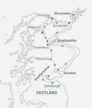 Kort - Skotland og Orkneyøerne - Sommer 2020