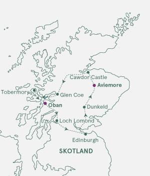 Kort over Skotland