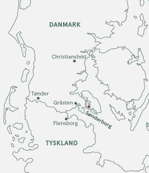 Kort - Sønderjylland · I kongernes fodspor - 2021 og 2022